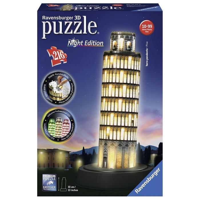 RAVENSBURGER-Puzzle-3D-Tour-De-Pise-Night-Edition-216-pcs
