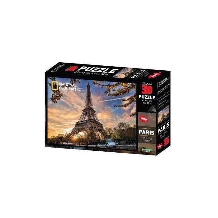 RIVIERA-GAMES-Puzzle-3D-en-relief-National-Geographic-Paris-500-pieces