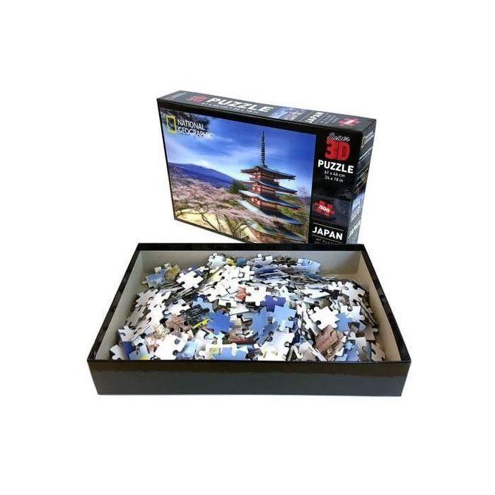 RIVIERA-GAMES-Puzzle-3D-en-relief-National-Geographic-Tokyo-500-pieces