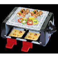 Raclette - Coupe-pate TRA-45P Appareil a raclette - 4 personnes - Noir