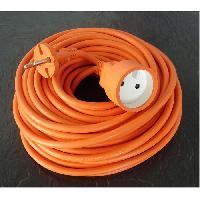 Rallonge Rallonge electrique HO5VVF 2 x 1.5 Orange 25m