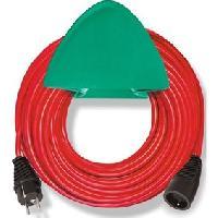 Rallonge Rallonge rouge 15m H05VV-F 3G1.5 avec support mural