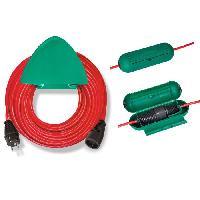 Rallonge Rallonge rouge 20m H05VV-F 3G1.5 avec support mural et safe-box