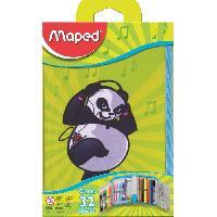 Rangement - Transport MAPED Trousse Scolaire Garnie 32 Pieces Panda