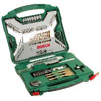Rangement Outils - Porte-outils Set mixte perçage - vissage Bosch - Coffret X-Line Titane de forets et d'embouts de vissage. 100 pieces