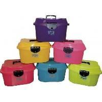 Rangement Produit De Toilettage - Rangement Materiel De Toilettage HIPPO-TONIC Coffre de pansage cheval - Rose fluo - L 43 x l 32 x h 30