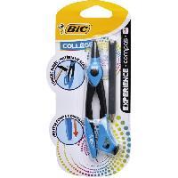 Rapporteur - Compas BIC Experience Compas avec Mini Crayon a Papier et Bague Reglable - Corps Metallique. Blister de 1 Betadine