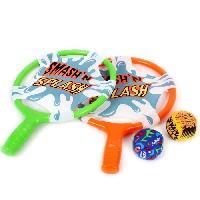 Raquettes De Plage MGM Lot de 2 raquettes tissus avec 2 balles