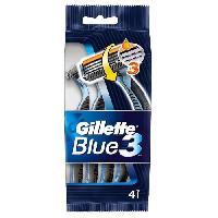 Rasage - Epilation 4 pieces rasoirs jetables Blue 3
