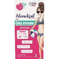Rasage - Epilation BLONDEPIL 12 bandes de cire froide 100 Filles - Special bikini peaux sensibles