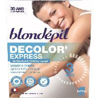 Rasage - Epilation BLONDEPIL Gel decolorant Decolor'express - Pour corps et visage - 2 x 75 ml
