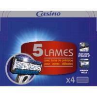 Rasage - Epilation Lot de 4 recharges - Pour rasoir Systeme 5 lames - Casino