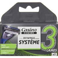 Rasage - Epilation Lot de 5 recharges - Pour rasoir Systeme 3 lames - Casino