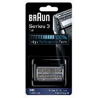 Rasage - Epilation Piece De Rechange compatible avec les rasoirs Series 3- BRAUN 31S Argentée