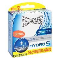Rasage - Epilation WILKINSON 12 Lames Hydro 5