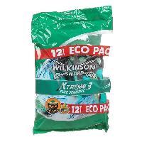 Rasage - Epilation WILKINSON Lot de 12 rasoirs jetables Xtreme3 Pure Sensitive - Tete pivotante - Lames flexibles