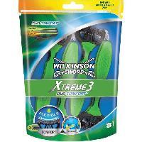 Rasoir Mecanique - Coupe-chou WILKINSON Pack de 8 Rasoirs jetables masculins Xtreme 3 Duo Comfort