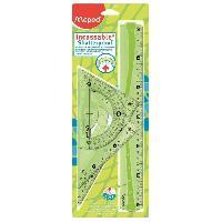 Regle - Equerre Kit Tracage Flex Incassable 30cm 4 Pieces