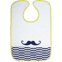 Repas Bebe BABYCALIN Bavoir 2eme Age Moustache a Velcro
