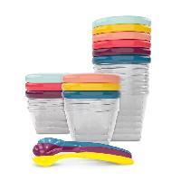 Repas Bebe BABYMOOV Babybols Kit XXL MultiSet 12 pots de conservation + 3 cuilleres souples