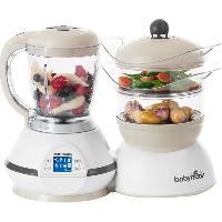 Repas Bebe Babymoov Robot culinaire Nutribaby Classic Blanc et creme 1500 ml