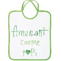 Repas Bebe Bavoir 1er Age Broderie Message Amusant Comme Papi