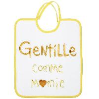 Repas Bebe Bavoir 1er Age Broderie Messsage Gentille Comme Mamie