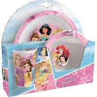 Repas Nomade Disney Princesses Ensemble lunch - Assiette - Verre - Bol