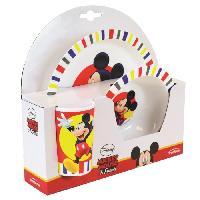 Repas Nomade Fun House Disney Mickey ensemble repas comprenant 1 assiette. 1 verre pour enfantet 1 bol pour enfant