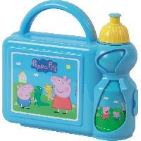 Repas Nomade Fun House Peppa Pig ensemble gouter comprenant un sac bandouliere. une gourde et une boite gouter pour enfant