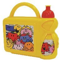 Repas Nomade Fun House monsieur madame ensemble gouter comprenant 1 gourde et 1 boite gouter pour enfant
