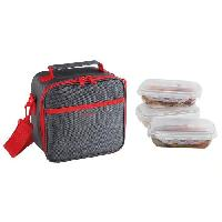 Repas Nomade SEP122R Set Sacoche Lunch box - Rouge