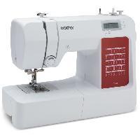 Repassage - Couture BROTHER - CS10s - Machine a coudre électronique - 40 points de couture - Systeme d'enfile-aiguille - Ecran LCD - Blanche