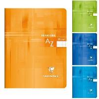 Repertoire CLAIREFONTAINE Repertoire piqure 170x220 96 pages 5x5 papier 90g - Couverture pelliculee 4 couleurs assorties