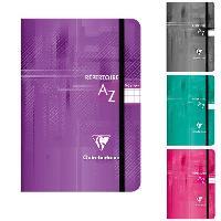 Repertoire CLAIREFONTAINE Repertoire piqure a elastique 90x140 96 pages 5x5 papier 90g - Couverture pelliculee 4 couleurs assorties