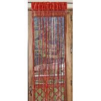 Rideau - Store - Accessoire 1 Rideau a fils paillettes 90x240cm Rouge
