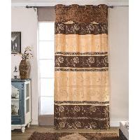 Rideau - Store - Accessoire Paire de double rideaux - 2x140x260cm - Choco