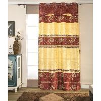 Rideau - Store - Accessoire Paire de double rideaux - 2x140x260cm - Rouge