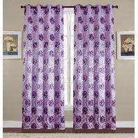 Rideau - Store - Accessoire Paire de double rideaux - 2x140x260cm - Violet