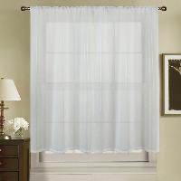 Rideau - Store - Accessoire Paire de voilage vitrage a rayures verticales - 2*90x120cm - 100% polyester Aucune