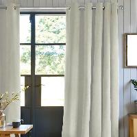 Rideau - Store - Accessoire Rideau First Suede en suedine polyester - 140 x 250 cm - Beige ecru