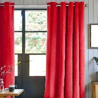 Rideau - Store - Accessoire Rideau First Suede en suedine polyester - 140 x 250 cm - Rouge