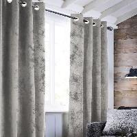 Rideau - Store - Accessoire Rideau Havane a oeillets - Aspect cuir - 140 x 250 cm - Blanc