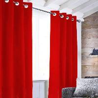 Rideau - Store - Accessoire Rideau Velvet a oeillets - 140 x 250 cm - Rouge
