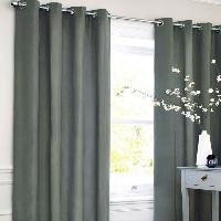 Rideau - Store - Accessoire Rideau coton LOOK - Gris carbone - 140x250 cm Aucune