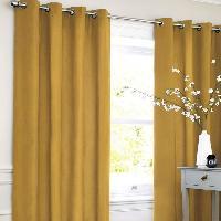 Rideau - Store - Accessoire Rideau coton LOOK - Jaune - 140x250 cm Aucune
