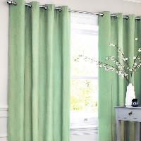 Rideau - Store - Accessoire Rideau coton LOOK - Vert clair - 140x250 cm Aucune