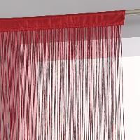 Rideau - Store - Accessoire Rideau fil - 90 x 200 cm - Rouge