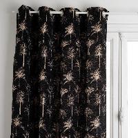 Rideau - Store - Accessoire Rideau jacquard Chenille - 140 x 260 cm - Noir