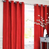 Rideau - Store - Accessoire Rideau occultant - 140 x 250 cm - Rouge